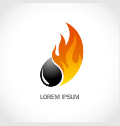 fire and oil logo vector image
