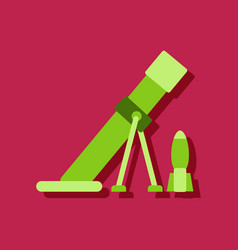Flat icon design collection mortar and shell vector