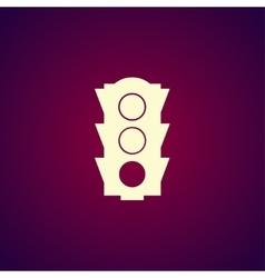Icon traffic vector image