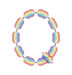 Letter Q made in rainbow colors vector image