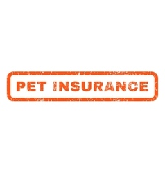 Pet Insurance Rubber Stamp vector image vector image