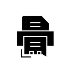 printer - fax icon black vector image