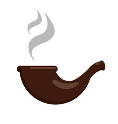 smoking pipe flat vector image