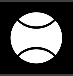 Tennis ball white color icon vector