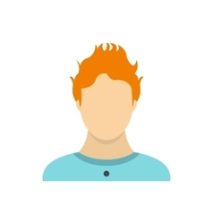 Man with red hair icon flat style vector