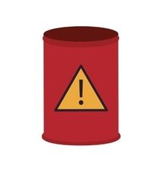 Toxic waste barrel icon vector