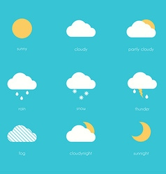 Weather icons modern flat creative info graphics vector