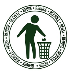 Recycle design vector