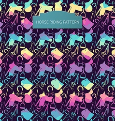 Dark horse pattern vector