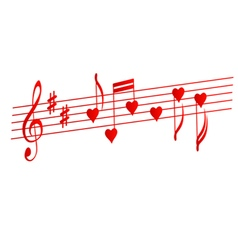 Valentines musical background love songs vector