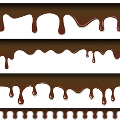 Chocolate seamless drips background vector