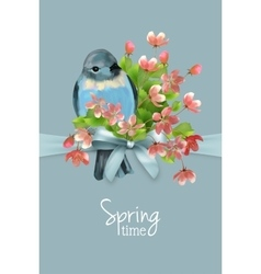 Floral spring card vector