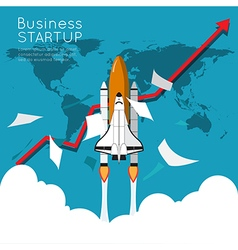 Business growth up for business start up vector