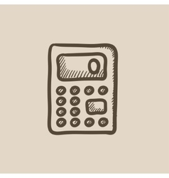 Calculator sketch icon vector image