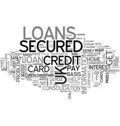 A necessary loan for your problem text word cloud vector