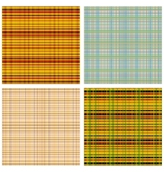 A set of Scottish Patterns vector image