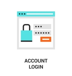 Account login icon vector
