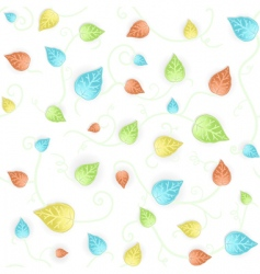 autumn leafy seamless pattern vector image