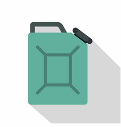 blue fuel jerrycan icon flat style vector image vector image