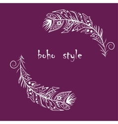 boho feathers vector image