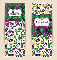 Bright carnival banners and welcome to carnival vector