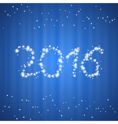 Christmas and New Year 2016 background vector image vector image