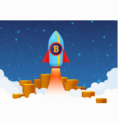 Concept of bitcoin growth with vector