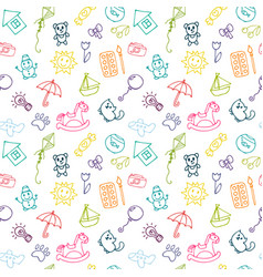 Doodle children drawing background sketch set of vector