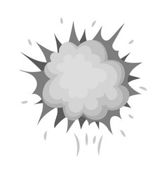 Explosion single icon in monochrome style vector