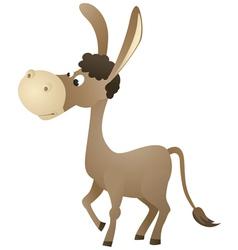 Fun cartoon donkey vector