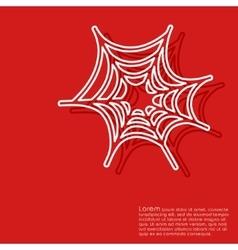 Halloween red background vector image vector image