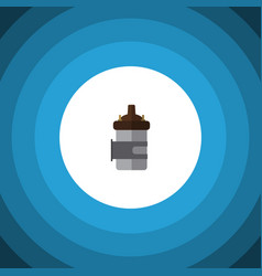 Isolated combustion engine flat icon absorber vector