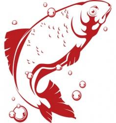 jumping fish vector image vector image