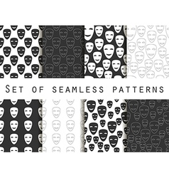 Mask with a smile seamless pattern vector