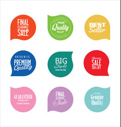 Modern badges colorful collection 3 vector