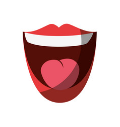 Mouth laughing cartoon vector
