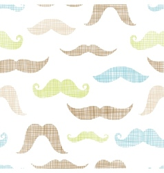 Mustaches textile textured seamless pattern vector image