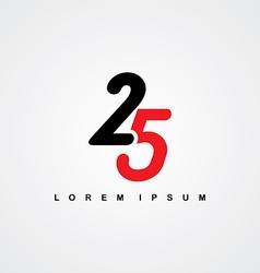 number linked logo vector image