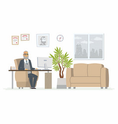 Office head - modern cartoon business vector