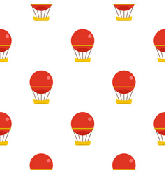 Red aerostat balloon pattern seamless vector