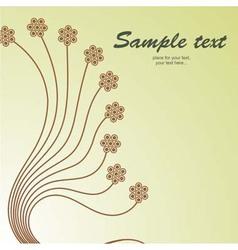 Retro floral vintage background pattern vector image vector image