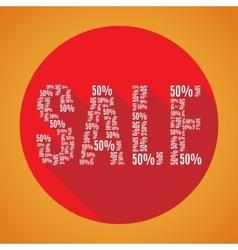 Sale 50 orange vector