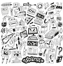 Science - doodles vector image