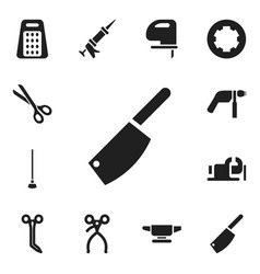 Set of 12 editable apparatus icons includes vector