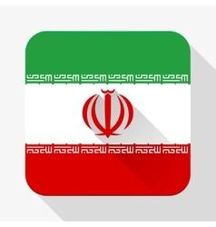 Simple flat icon iran flag vector