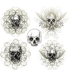 skull design vector image vector image