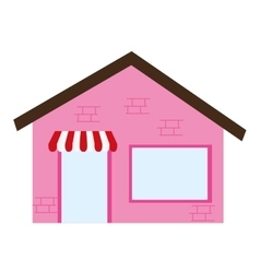 store building place isolated vector image