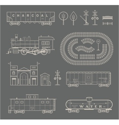 train set vector image vector image