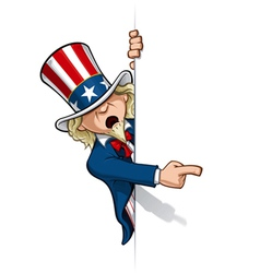 Uncle sam pointing at a banner vector