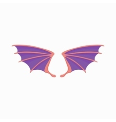Violet dragon wings icon cartoon style vector image